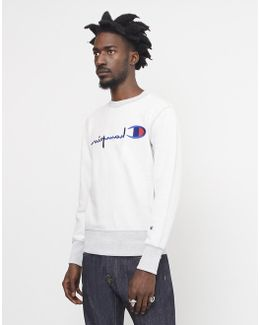 Champion Terry Classic Reverse Weave Sweatshirt Grey Men's Sweater In Grey
