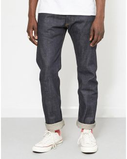 Japenese Selvedge Dry Loose Tapered Fit Jeans