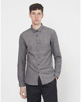 Steen Brushed Oxford Long Sleeve Shirt Grey