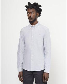 Brewer Oxford Slim Long Sleeve Shirt Light Grey