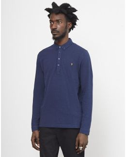 Merriweather Long Sleeve Polo Navy