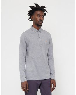 Merriweather Long Sleeve Polo Grey