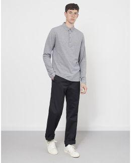Merriweather Long Sleeve Polo Grey