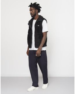 Eagle Fleece Vest Black