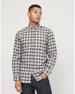 Classica Check Button Down Shirt Grey