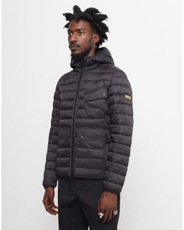 Ouston Hooded Quilted Jacket Black