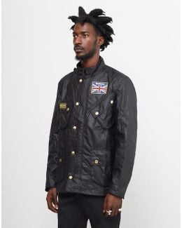 Union Jack Motorcycle Jacket Black