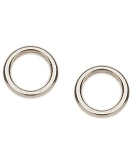 Mini Open Circle Stud Earrings