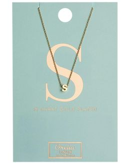 Necklace Initial S