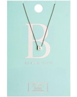 Necklace Initial B