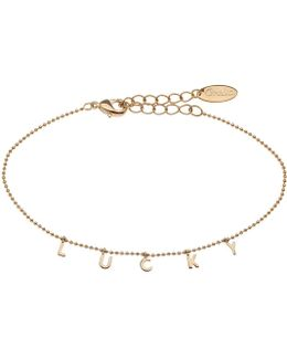Lucky Charm Script Bracelet