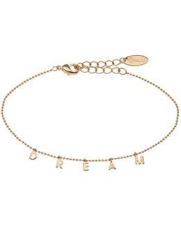 Dream Charm Script Bracelet