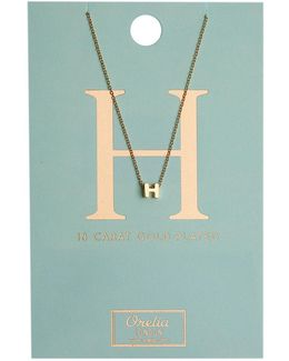 Necklace Initial H