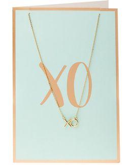 Semi Precious Xo Necklace Giftcard