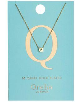 Necklace Initial Q