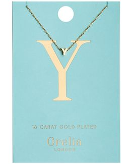 Necklace Initial Y