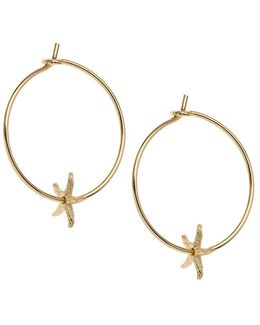 Starfish Charm Hoops