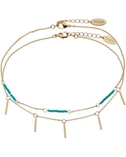 Seedbead And Bar Anklet