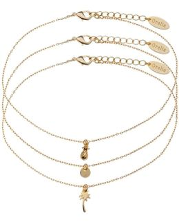 Tropical Charm Anklet 3 Pack