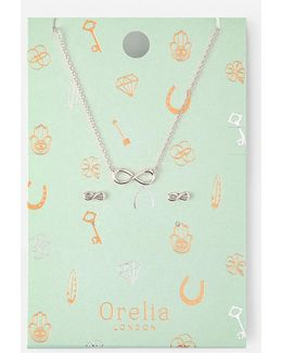 Infinity Earring Necklace
