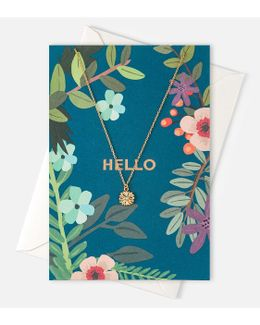 Hello Flower Necklace Giftcard
