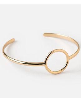 Open Circle Open Bangle Bracelet