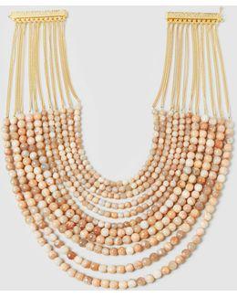 Raissa Sun Stone Multi-strand Necklace
