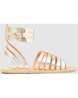 Zaira Metallic Leather Gladiator Sandals