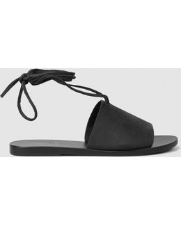 Christina Leather Ankle-tie Sandals