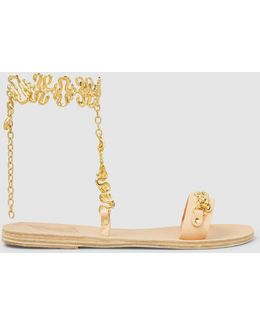 Nyx Chain-embellished Leather Sandals