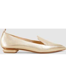 Beya Textured Leather Point-toe Flats