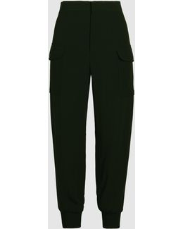 Crepe Satin Cargo Trousers