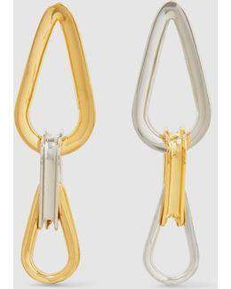 Trilliptic Bicolour Loop Earrings
