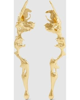 Gold Plated Lava Earrings