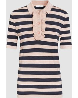 Romilly Striped Stretch-knit Top
