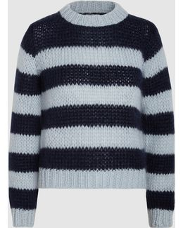 Faucher Striped Mohair And Wool-blend Sweater