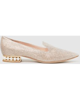Casati Embellished Glittered Loafers