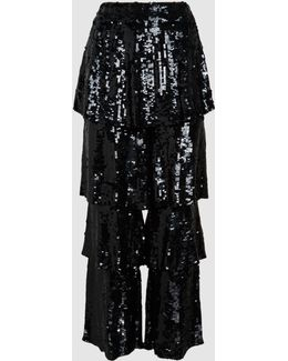 Felix Ruffled Sequinned Trousers