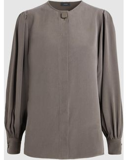 Quinn Washed-silk Blouse