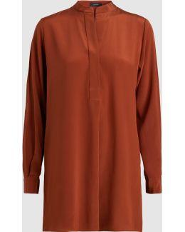 Lara Long Sleeve Silk Tunic
