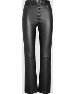 Den Tapered Stretch-leather Trousers
