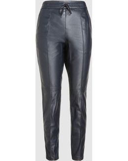 Base Striped Leather Track Pants