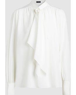 Cora Ruffled Silk Blouse