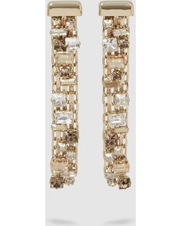 Crystal-embellished Gold-plated Earrings