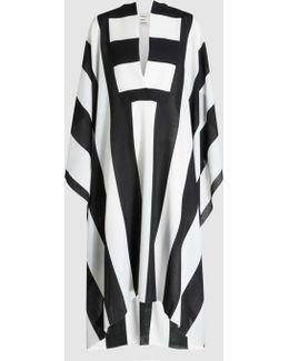Etamine Striped Wool Midi Dress