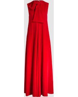 Velvet Neck-tie Gown