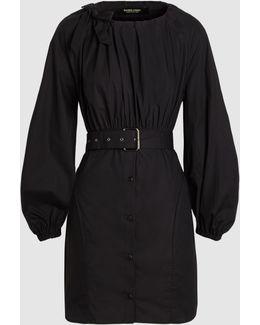Undone Belted Cotton Mini Dress