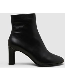 Elte Leather Mid-heel Ankle Boots