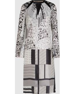 Plastow Silk-twill Long-sleeve Dress