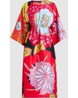 Dash Printed Silk-habotai Dress